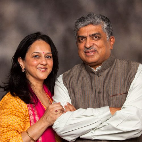Rohini and Nandan Nilekani Photo 1